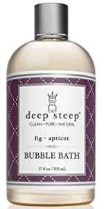 deep steep fig apricot scented bubble bath