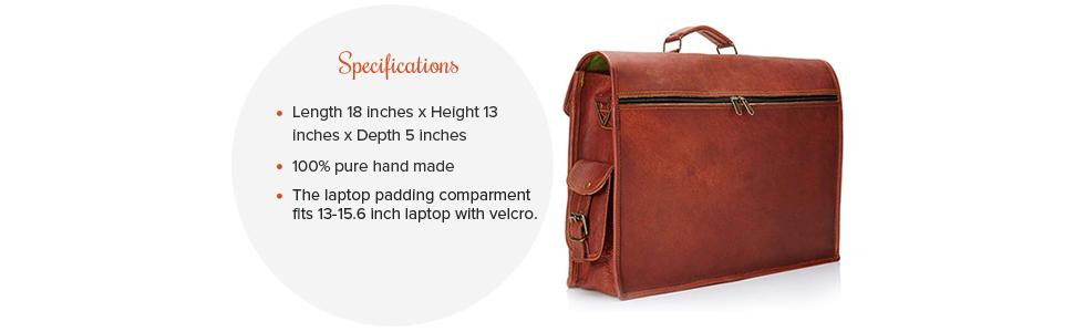 genuine leather travel office meeting school college leather messenger laptop shoulder bag