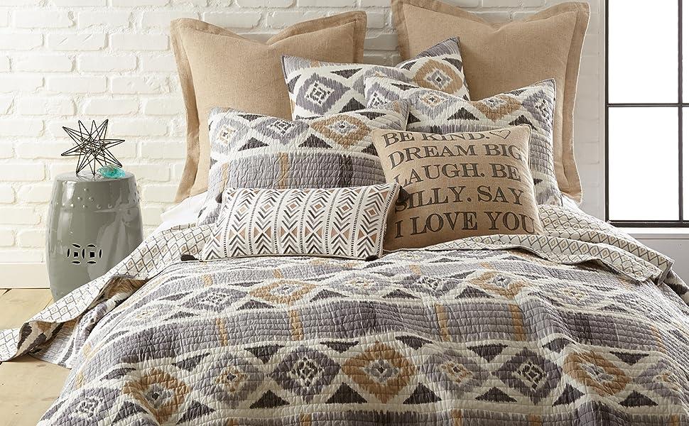 santa fe grey black beige neutral colors modern aztec pattern