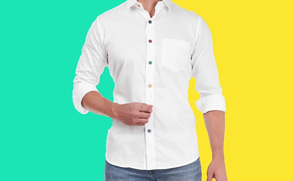 multicolor button shirt