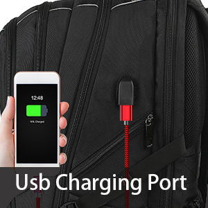 external USB port with set-in charging cable offer convenient charging your cellphone and other