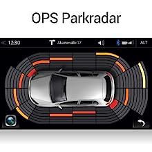 ZENEC Z-E2055: Anzeige des Optischen Park Systems, Einparkhilfe