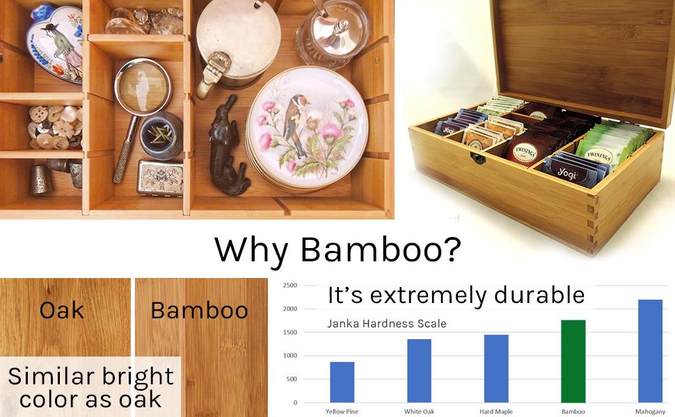 sustainable bamboo wood keepsake memento organizer green environmental gift