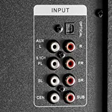 Speaker inputs for a versatile setup