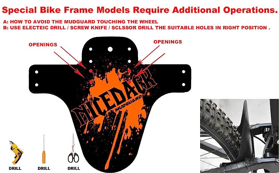 10pz Front Fender Marsh PVC Back//Bike//MTB//Downhill//Freeride