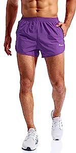 mens 3 inch running shorts
