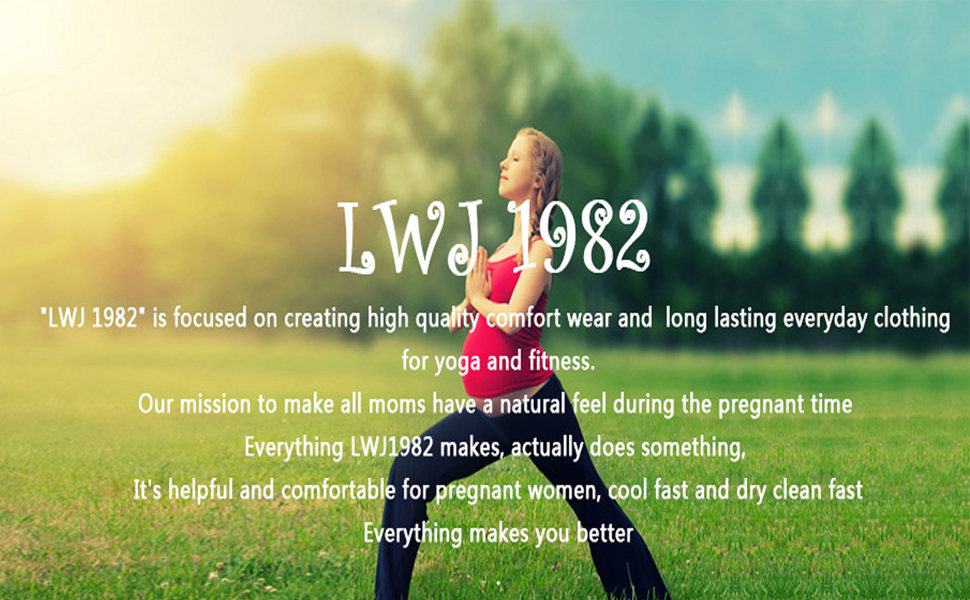 LWJ 1982 Maternity Activewear Prenatal Yoga Tank Tops Pregnancy Workout Fitness