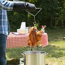 Oil & Heat Resistant - no worries frying that bird!