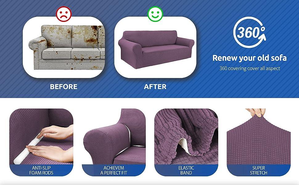 Dark Purple sofa cover L/XL/XXL A+5