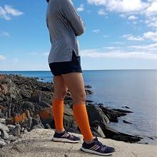 calf compression sleeve shin splint sleeves running socks bevisible sports