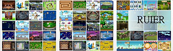 RUIER Retro Mini Arcade Game Machines with 220 Classic Handheld Video Games Portable Gaming Arcade Cabinet Children Tiny Toys Novelty Electronics for ...