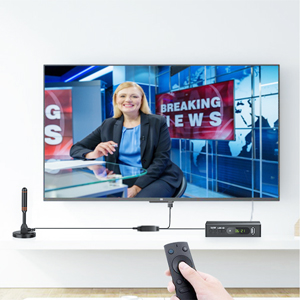Mástil de Antena Antena TV Interior/Exterior de Alta Ganancia de 30 dB para Receptor USB TDT/DTMB, ATSC,DVB-T, DMB-T, portátil con Base magnética ...