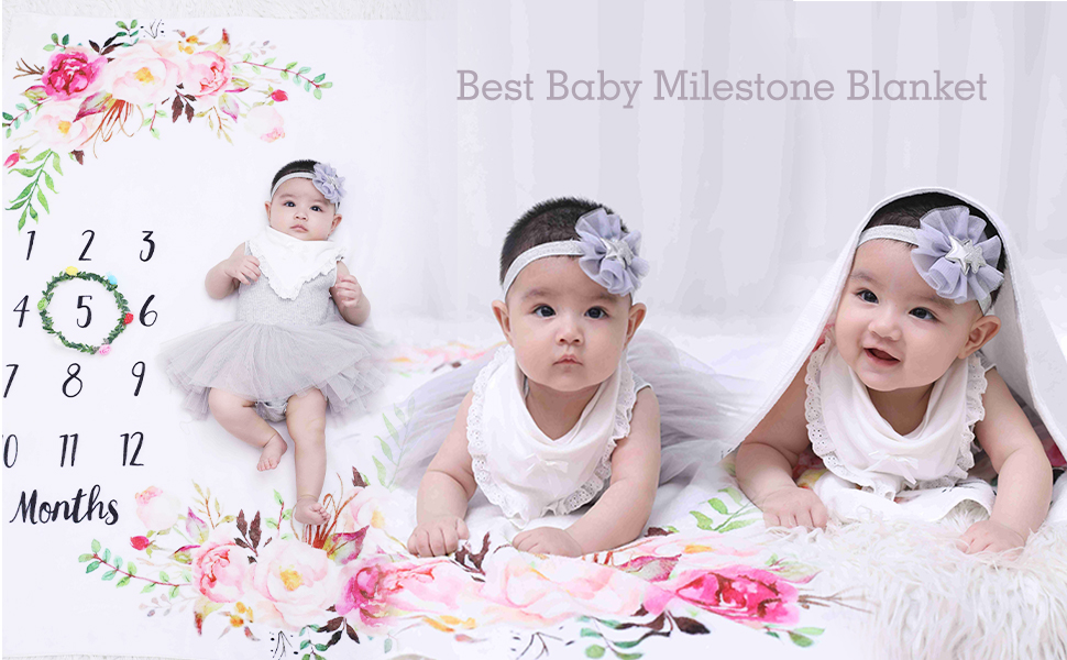 baby girls swaddle blankets newborn baby girls blankets milestone infantp clothes baby showe gifts