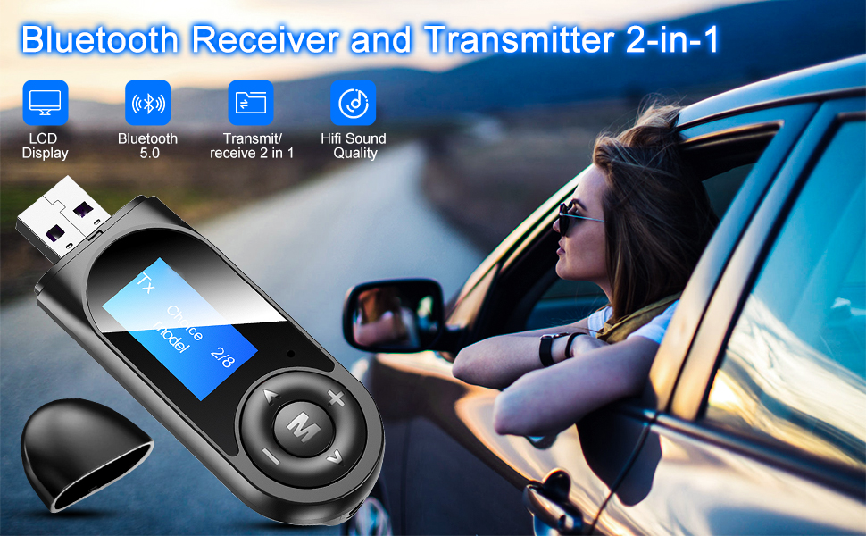 Bluetooth 5.0 Transmitter Receiver