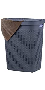 grey laundry hamper