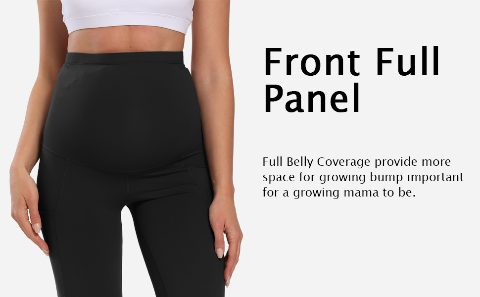 Maternity Pants for Women,Comfy Stretch Pull-on Work Out Leggings with Pockets