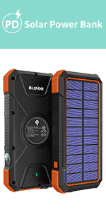 wireless solar power bank charger