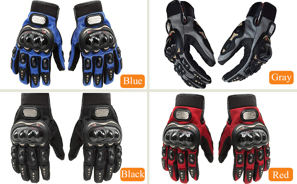 Steel Knuckle Motorcycle Gloves Powersports Full Finger Motorbike Racing Leather outdoor For Men M