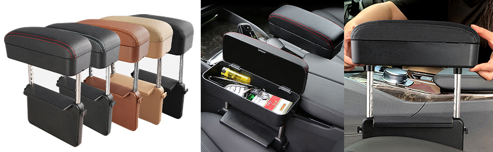 Armrest Box Protector Extender  Elbow Rest Pad Universal Fit for All Car Models