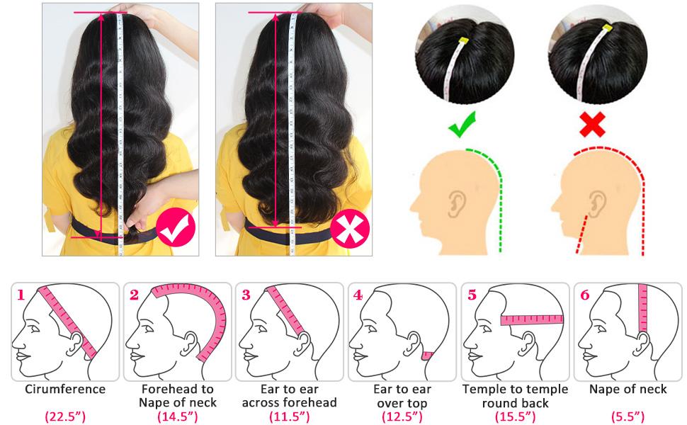 How to measure hair length