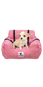 Small red dog seat
