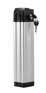 Lithium-ion E-bike Battery Hailong LG M26 Black Down Tube 36V10.4Ah 385Wh