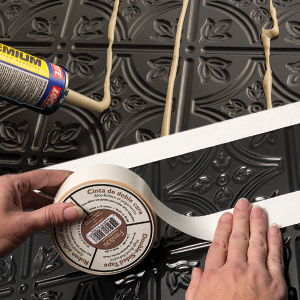 Fasade Backsplash Panels Glue and tape