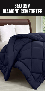All Season Quilted Diamond Comforter