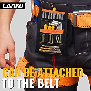 CAN BE ATTACHED TO THE BELT