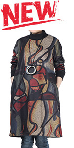 oversized printed midi dresses