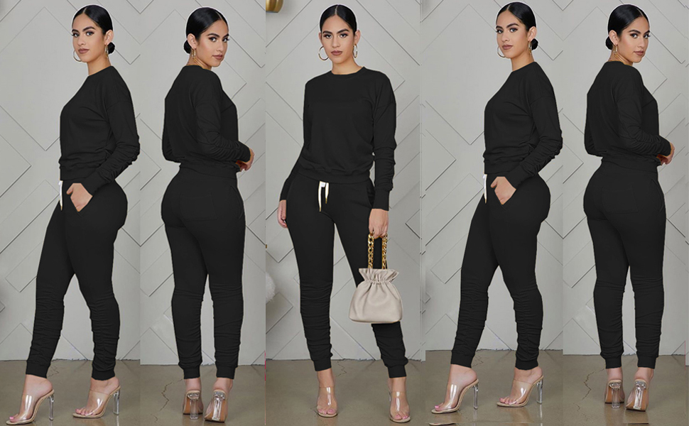 Sweatsuit for Women 2 Piece Outfits Sets Pant Set Sweatsuits Jogger Outfits Tracksuit