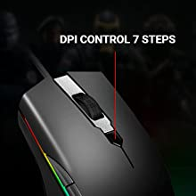 A900  ABKONCORE Gaming Mouse A900 [16,000 DPI], Wired, USB Computer Mice with 8 Programmable Buttons, PWM 3389 Sensor, RGB Backlit, Comfortable Grip Both Handed Mice for Laptop, PC, Mac, Windows 6d1da83c 03af 43c6 8e16 7cfe1e0a1cfc