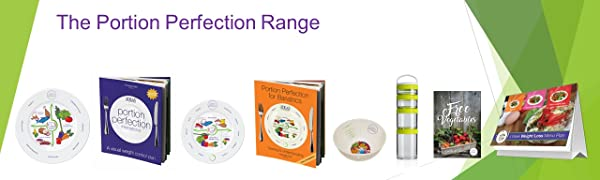 Portion pefection weight loss control management books purple diet healthy plates bowls serving size