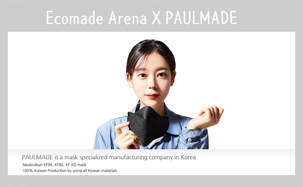 Ecomade Arena Paulmade collaboration OEM KF94 mask