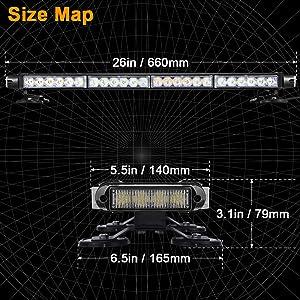 LED Red white strobe light bar for emergency vehicles