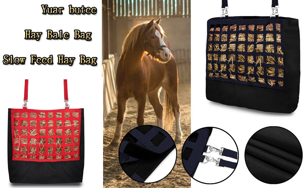 Professionals Horse Hay Bag Hay Feeder Hay Net Storage Pouch for Cow Goat Animal
