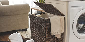 Larger Wicker Basket with Lid