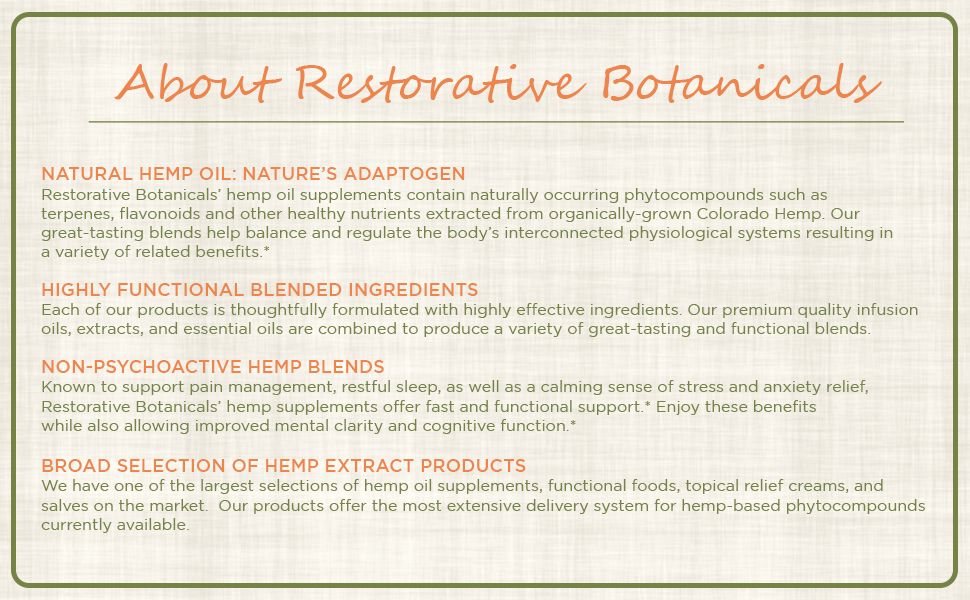 About Restorative Botanicals