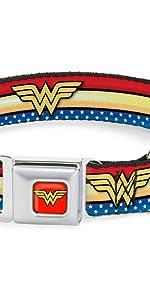 Wonder Woman Seatbelt Buckle Collar