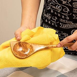 Maintaining wood utensils