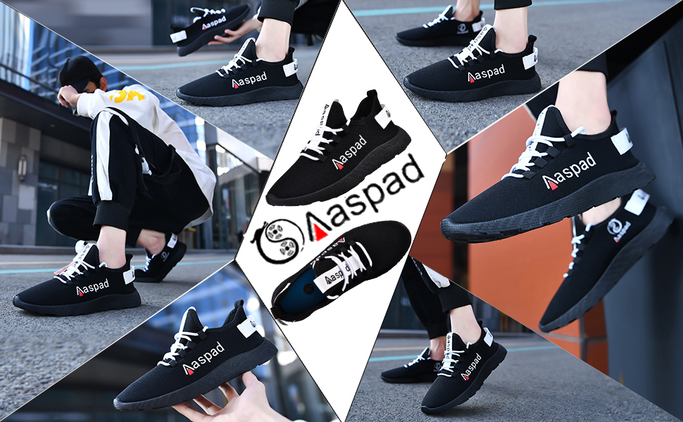 Aaspad Mens Shoes Running Shoes for Men Fashion Sneakers for Work Men's Athletic Walking Shoes
