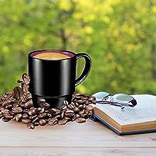 Porcelain Mugs - 16 Ounce for Coffee, Tea, Cocoa, Set of 6