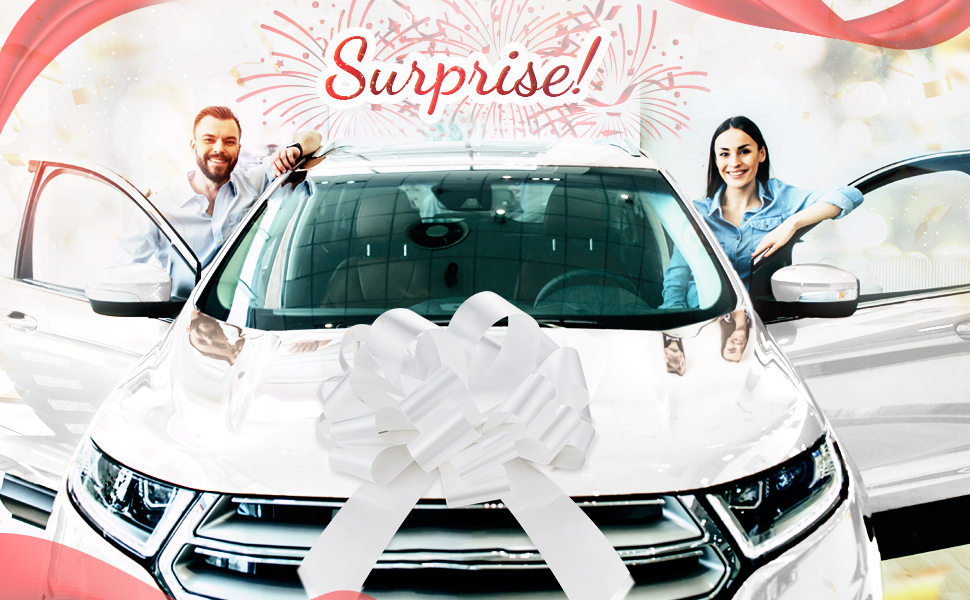 white bow white big white bow big white bow for car white bows car bows white large white bow