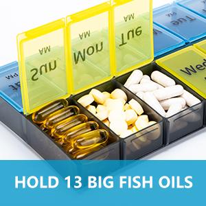 Navy Gold and Tan Paisley AMPM Pill Box Holder Organizer