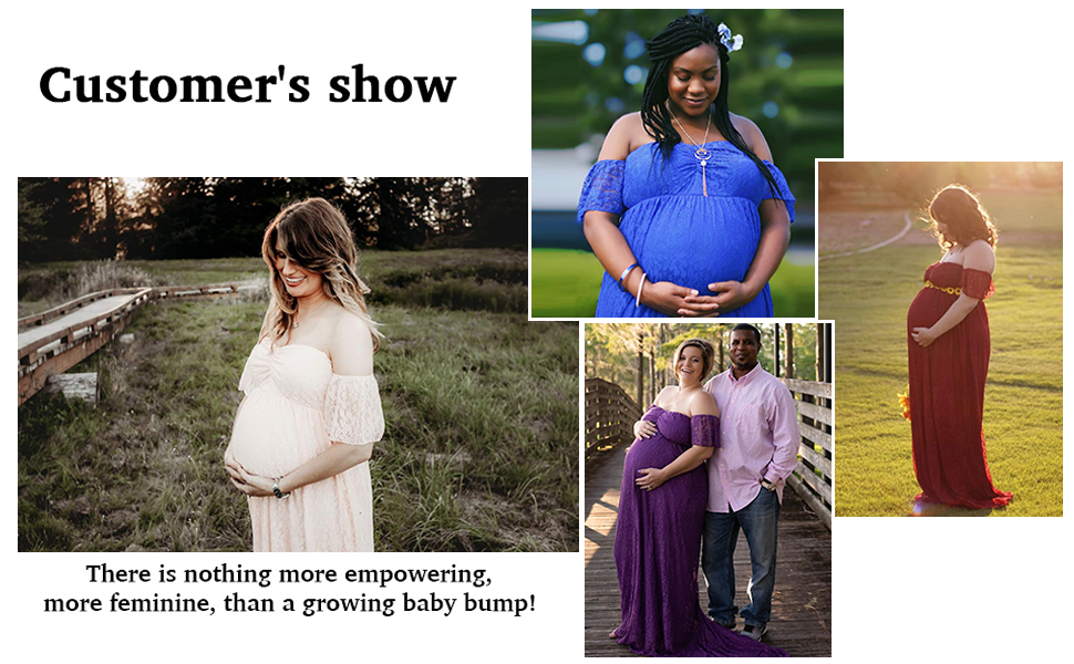 maternity shoot gowns