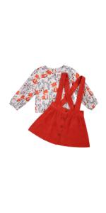 Fox Overall Skirt Set