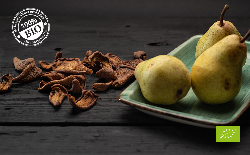 Biojoy Peras desecadas BÍO, sin azúcar añadido y óxido de azufre (1 kg): Amazon.es: Alimentación y bebidas