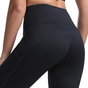2 side pockets yoga shorts gym shorts black cycling shorts high waisted women  tummy control shorts