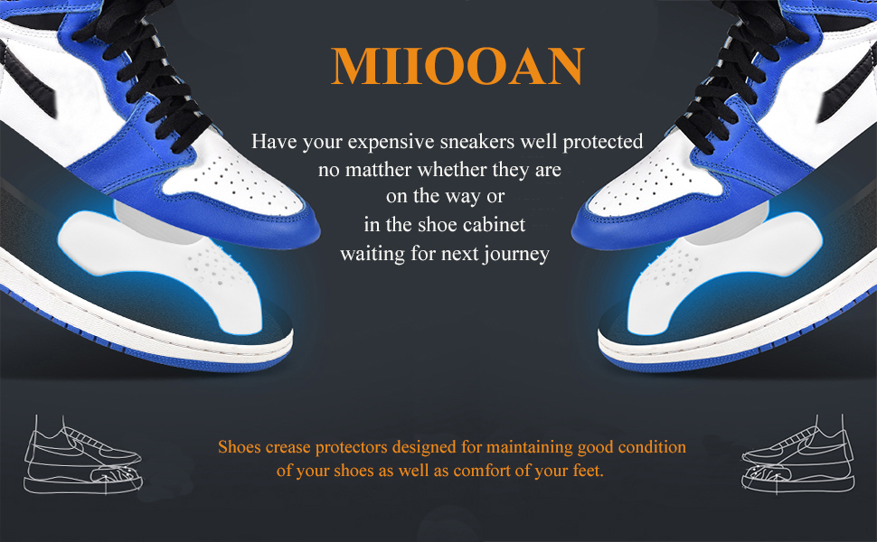 Amazon.com: Crease Protectors, 3 Pairs Shoes Guard Toe Box Wrinkle ...