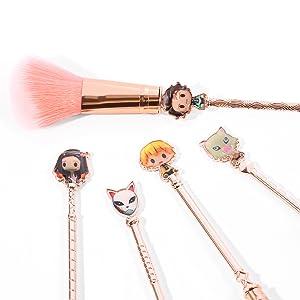Anime Peripheral Demon Slayer Makeup Brush Set
